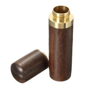 Il migliore secchio del secchio del supporto di stuzzicadenti d'ebano di legno mini scatola che fa un escursione il regalo fatto a mano del mestiere portatile 8 * 1.8cm