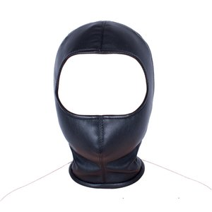 Face Mask Open Toys PU Leather Blindfold Eye Toys Fetish Hood Mask Product Bondage For Games Sex Head Sexy Couple Men Sex Adult Xsnkd