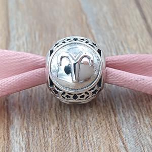 Овен Знак зодиака шарма 925 серебряные шарики приспосабливает Европейский Pandora Стиль ювелирных изделий Браслеты Ожерелье 791936 Знаки Зодиака