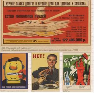 Sovyet Rusya emperyalizme karşı yükseldi Dünya savaşı II Klasik Vintage Retro Dekoratif DIY Duvar Çıkartmaları Ev Posterler