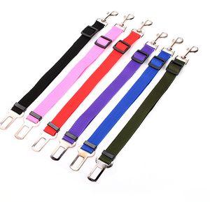 Adjustable Dog Car Safety Seat Belt Nylon Pets Puppy Seat Lead Leash Harness Vehicle Seatbelt 7 Color