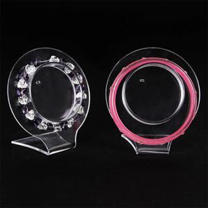 TONVIC gros Clear Voir acrylique Bracelet boucles d'oreilles Pendentif Porte-stand Rack Display Bijoux