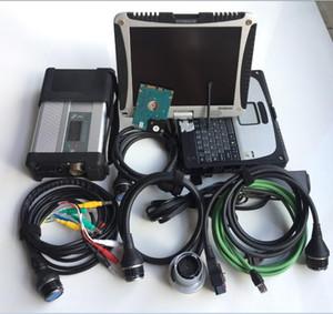 para mb star diagnosis c5 con cf19 Laptop Toughbook Diagnostic PC hdd 320gb para autos camiones escáner listo para trabajar