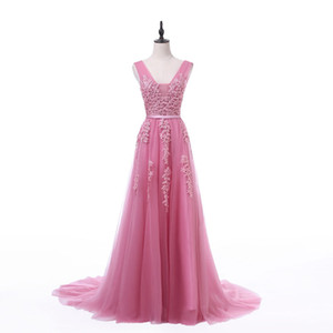 2021 FADISTEE NOUVELLE ARRIVÉE Robe de soirée de soirée Vestidos de Fiesta A-Line Robe de bal en dentelle Perles de perles Robe de Col V Robe de Soniree avec fermeture à glissière