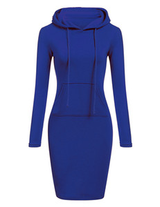 Herbst Mode Langarm Designer Hoodies Frauen beiläufige lose feste schwarz grau lange Sweatshirt 6 Farbe