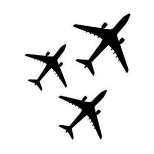 Three airplanes decor vinyl car sticker motocycle sticker CA-212