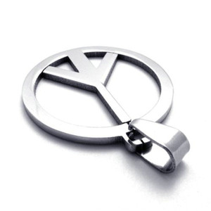 Plished simple high fashion jewelry stainless steel pendant peace symbol pendant unique for him best gift size 4.1cm*3cm