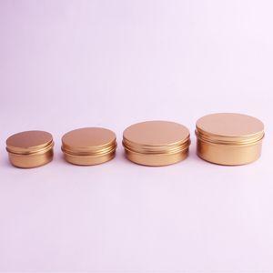 50ml / 60ml / 100ml / 150 ml de crème cosmétique de crème cosmétique de l'aluminium rose or tinment métal poule rechargeable bocal en aluminium rouges à lèvres paquet pot en gros