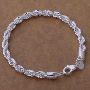 Promozione Sconto Splendido Best Quality Charm Sterling Silver Donna Uomo Bracciale Corde Catena di moda gioielli braccialetto prezzo di fabbrica Charms