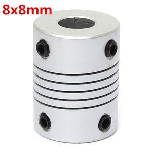 8mm x 8mm 알루미늄 유연한 샤프트 커플 링 OD19mm x L25mm CNC 스텝퍼 모터 커플러 커넥터