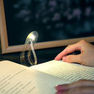 Top selling Creative Bookmark Innovation Mini small table lamp Novelty lights Read the mini night light Button Battery light