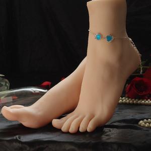Livraison gratuite!! Nouveau modèle de pied de mannequin de pied de femme réaliste en silicone fabriqué en Chine