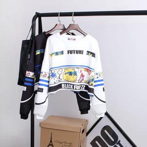 Sweatshirt de la nouvelle femme lettres Harajuku Sexy Crop Top Punk Hip -Hop Hoody grande taille Sudaderas Mujer Mode Feminino Moleton Hotsale