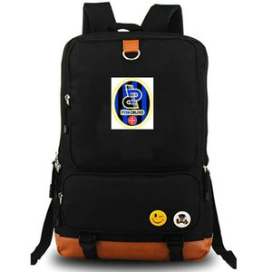 Nerazzurri 책가방 AC 피사의 daypack 1909 축구 클럽 schoolbag 축구 팀 rucksack 캔버스 학교 가방 야외 데이 팩