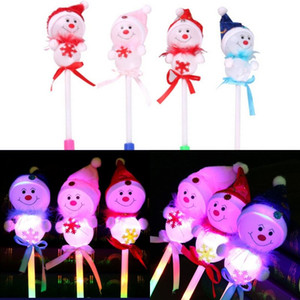 Christmas LED lampeggiante Sticks Light-Up Toys Bambini Natale pupazzo di neve decorativo con Glow Stick Baby regali di Capodanno