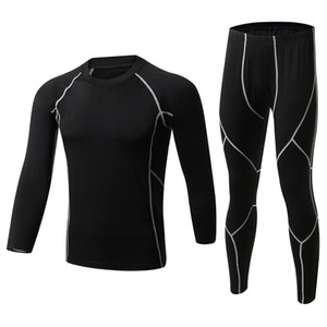 New Winter Men Thermal Underwear Sets Fleece Warm Long Johns Breathable Thermo Underwear Quick Dry Top and Pant Suit Tights