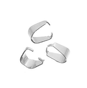 LASPERAL 100 Stücke Edelstahl Silber Farbe Prise Bail Verschlüsse Passen Anhänger Charms DIY Schmuck Zubehör 6,6x4,9mm