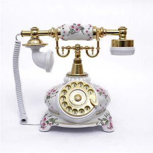 Para a fábrica, telefone antigo, toca-discos, estilo europeu à moda antiga, moda criativa retro telefone fixo 108