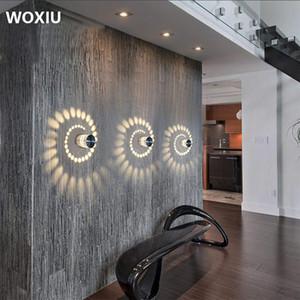 WOXIU 3W LED 벽 빛 알루미늄 천장 조명 욕실 램프 현대 stahler 효과 욕실 거실 벽 조명