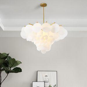 현대 LED 펜 던 트 램프 화이트 아크릴 꽃 펜 던 트 조명 거실 조명기구에 매달려 호텔 식사 무료 Fippin F008