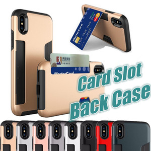 ل iPhone X فتحة بطاقة حالة المحفظة حالة الهاتف مع فتحة بطاقة الائتمان الجانب جيب غطاء TPU للآيفون 8 7 زائد 5s 6 6 ثانية زائد