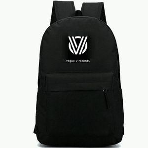 Vogue V records backpack أفضل بالنسبة لك daypack Top DJ music schoolbag الترفيه حقيبة الظهر الرياضة حقيبة مدرسية حزمة يوم في الهواء الطلق