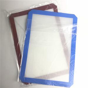 XXL Silicone Tapis avec Rouge Bleu 42 cm x 29 cm Anti-Adhésif Cire À L'huile Dab Table À Manger Tapis De Cuisson pour L'eau Verre Fumer Pipes Pads