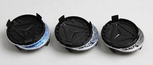 20pCS 75mm Tapa del centro de la rueda azul Tapas del cubo del centro de la rueda para Mercedes W203 W204 W124 W211 W212 W221 A1714000025