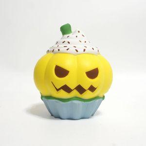 Novo Kawaii PU Simulação Abóbora sorvete Squishy Lento Subindo Halloween Squeeze brinquedos Descompressão Toy Kids cartoon Novidade Itens