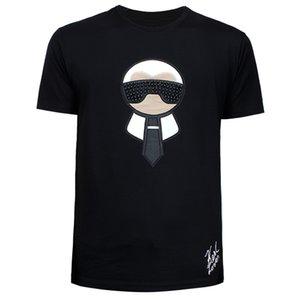 Camiseta de tamaño M-3XL El envío gratuito 2019 Smeumr nuevo monstruo de piel remaches manera ocasional de la impresión de los hombres de cuello redondo
