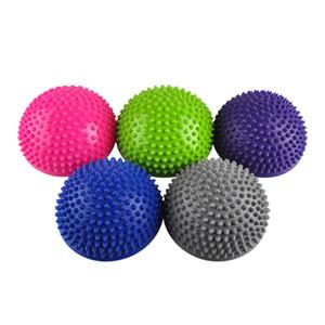 Yoga Half Ball Fitnessgeräte Kinder Ältere Durian Massagematte Übung Balance Punkt Gym Yoga Pilates Ball 15,5 * 8,5 cm