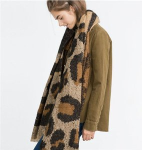 leopard cashmere scarf ladies scarf women gift scarves winter thick warm Wrap women and men Shawl