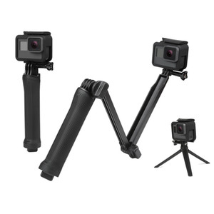 방수 Monopod Selfie 스틱 Gopro Hero 5 4 3 세션 ek7000 Xiaomi Yi 4K 카메라 삼각대 Go pro 액세서리