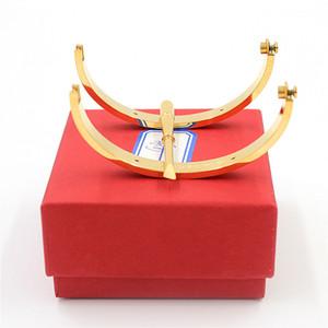 Wholesale Пятая роскошь Top Qualtiy Silver Carter BraceletsBanglesBanges Titanium Steel Love Свадебный браслет с отверткой коробка YX028