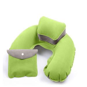 U Shape Neck Pillow Neck Supporto Poggiatesta Soft PER Auto da viaggio Outdoor Office Plane Hotel Flight Pillow + Pouch Car Styling