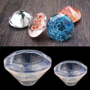 Forma de Diamante Resina Epóxi Mold DIY Colar Pingente ferramentas manuais Acessórios de silicone Moldes bolo de chocolate Decoração Mold 3D