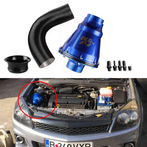 RASTP - K&N Apollo CIS Flow Air Filter Universal Race Car Cold Air Intake Induction Kit With Air Box & Filt Blue Have In Stock