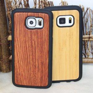 Niedriger Preis Holz TPU Cases für Samsung Galaxy S8 S9 Plus-Anmerkung 8 S7 Rand S6 ultradünne Holz Bambus-Telefon-Abdeckung für Iphone X 7 8 6 6s und 5s