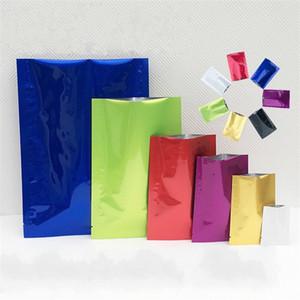 Многоцветный полиэтиленовый пакет Майларовая алюминиевая фольга упаковка мешки порошок чай лист пищевой влагостойкий вакуумный мешок для хранения прочный 0 19sy2 YY