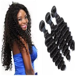 Mix 3pcs 8-30inch Brazilian Deep Wave Human Hair Weft Natural Color Hair Weave Bundles Free Shipping