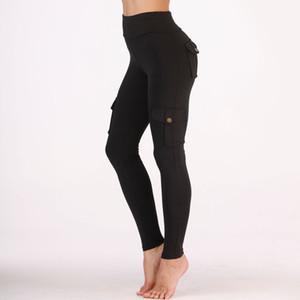 Pantalones de yoga de las mujeres Pantalones deportivos de gimnasio Estilo fresco Pantalones de entrenamiento negro / verde Capris elásticos Pantalones de running Jeggings flacos