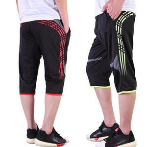 Hombres Pantalones de entrenamiento de fútbol 3/4 Pantalones deportivos para correr yoga Fitness Senderismo Tenis Baloncesto Fútbol Jogging Pantalones de chándal Transpirables
