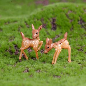 Miniature cervi cute amanti Fairy Garden rifornimento fai da te Materiale Mini Resina Handcaft Moss Micro Accessori Paesaggio Vaso da fiori Decoration