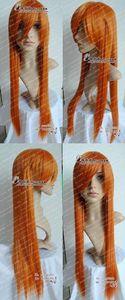 NEON GENESIS EVANGELION Cosplay Long Orange Blonde Wig