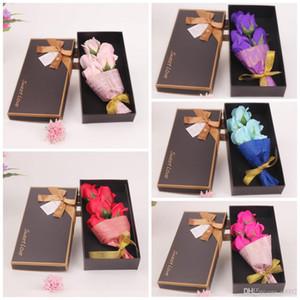 شعبية هيئة حمام الصابون زهرة اصطناعية للبنات هدايا عيد الميلاد باقة اليدوية وهمية روز الصابون الزهور ألوان كثيرة 6 5 ميجا واط ZZ