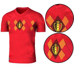 QUALIDADE SUPERIOR 2018 Copa do Mundo Bélgica Casa camisa de Futebol vermelho 17 18 fora de LUKAKU PERIGO VERMAELEN KOMPANY DE BRUYNE camisa de Futebol