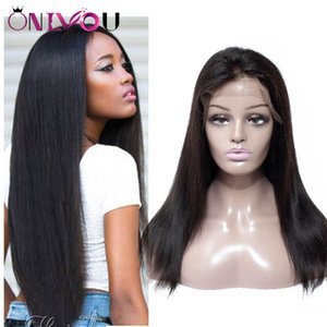 Brazilian Virgin Hair Straight Body Deep Wave Full Lace Human Hair Wigs For Black Women Peruvian Indian Remy Hair Lace Front Wigs Wholesale