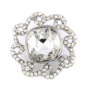 Rhinestone Crystal Jewelry 18mm noosa chunk buttons White Red for all kinds of snap button necklaces