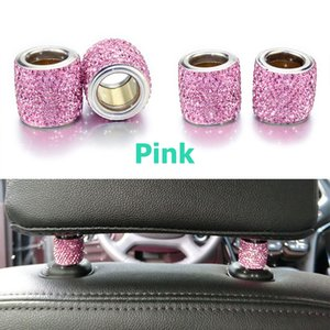 Car Interior Accessories 1 Piece Icy Crystal Car Seat Holder Decoration For Women Car Bling For Seat Rhinestone for Headrest Collars