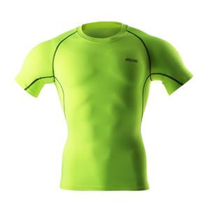 ARSUXEO Radfahren Basisschicht Männer Fahrrad Kurze Ärmel Fitness Workout Shirts FitnessTraining Kleidung Lauf Shirts Y1890402